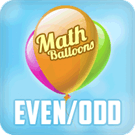 Play Math Balloons Even/Odd