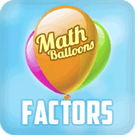 Play Math Balloons Factors