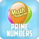 Play Math Balloons Prime Numbers