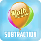 Play Math Balloons Subtraction