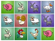 Play Farm Animals Matching Puz…