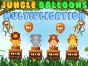 Play Jungle Balloons Multiplication