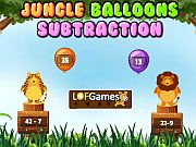 Play Jungle Balloons Subtraction
