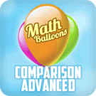 Play Math Balloons Comparison Advanced