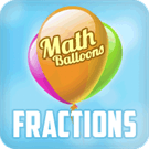 Play Math Balloons Fraction Arithmetic