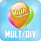 Play Math Balloons Multiplicat…