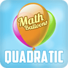 Play Math Balloons Quadratic Equations