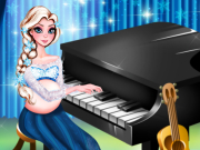 Play Pregnant Elsa Piano Performance